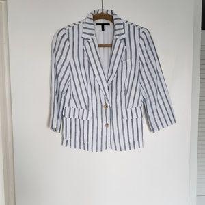 Victoria's Secret Striped Linen Blazer